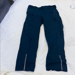 Lululemon leggings- Dark teal, Fast and Free style